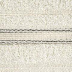 Ręcznik z bawełny z bordiurą podkreśloną srebrną nitką 70x140cm - 70 X 140 cm - kremowy 8
