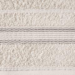 Ręcznik z bawełny z bordiurą podkreśloną srebrną nitką 50x90cm - 50 X 90 cm - beżowy 7
