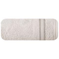 Ręcznik z bawełny z bordiurą podkreśloną srebrną nitką 50x90cm - 50 X 90 cm - beżowy 2