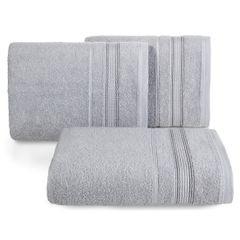 Ręcznik z bawełny z bordiurą podkreśloną srebrną nitką 50x90cm - 50 X 90 cm - srebrny 1