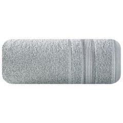 Ręcznik z bawełny z bordiurą podkreśloną srebrną nitką 70x140cm - 70 X 140 cm - srebrny 2