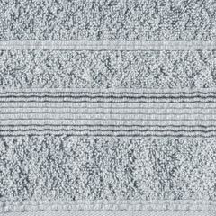 Ręcznik z bawełny z bordiurą podkreśloną srebrną nitką 70x140cm - 70 X 140 cm - srebrny 4