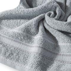 Ręcznik z bawełny z bordiurą podkreśloną srebrną nitką 70x140cm - 70 X 140 cm - srebrny 5