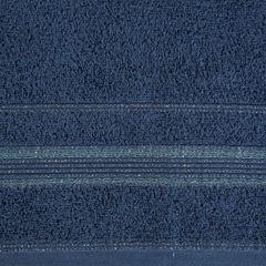 Ręcznik z bawełny z bordiurą podkreśloną srebrną nitką 70x140cm - 70 X 140 cm - granatowy 7