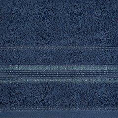 Ręcznik z bawełny z bordiurą podkreśloną srebrną nitką 70x140cm - 70 X 140 cm - granatowy 8