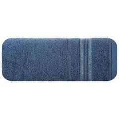 Ręcznik z bawełny z bordiurą podkreśloną srebrną nitką 70x140cm - 70 X 140 cm - granatowy 2