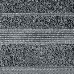 Ręcznik z bawełny z bordiurą podkreśloną srebrną nitką 70x140cm - 70 X 140 cm - stalowy 8