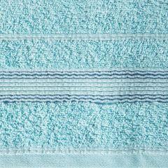 Ręcznik z bawełny z bordiurą podkreśloną srebrną nitką 50x90cm - 50 X 90 cm - turkusowy 7
