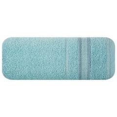 Ręcznik z bawełny z bordiurą podkreśloną srebrną nitką 50x90cm - 50 X 90 cm - turkusowy 2