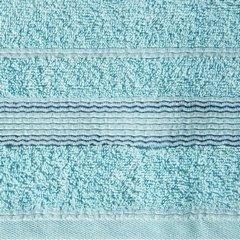 Ręcznik z bawełny z bordiurą podkreśloną srebrną nitką 70x140cm - 70 X 140 cm - turkusowy 9