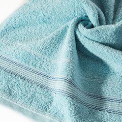 Ręcznik z bawełny z bordiurą podkreśloną srebrną nitką 70x140cm - 70 X 140 cm - turkusowy 5