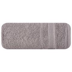Ręcznik z bawełny z bordiurą podkreśloną srebrną nitką 70x140cm - 70 X 140 cm - liliowy 2