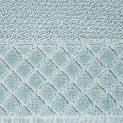 Ręcznik z bawełny z miękką bordiurą w kosteczkę 70x140cm miętowy - 70 X 140 cm - miętowy 7