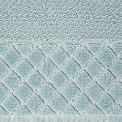Ręcznik z bawełny z miękką bordiurą w kosteczkę 70x140cm miętowy - 70 X 140 cm - miętowy 8