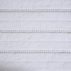 Biały ręcznik kąpielowy z metaliczną nicią - 50x90 cm - 50 X 90 cm - biały 10