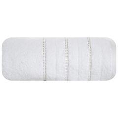 Biały ręcznik kąpielowy z metaliczną nicią - 50x90 cm - 50 X 90 cm - biały 2