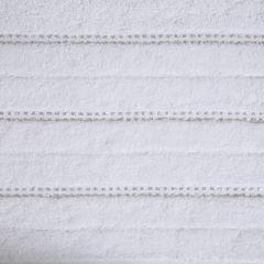 Biały ręcznik kąpielowy z metaliczną nicią - 50x90 cm - 50 X 90 cm - biały 4