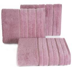 Pudrowy ręcznik kąpielowy z metaliczną nicią - 50x90 cm - 50 X 90 cm - liliowy 1