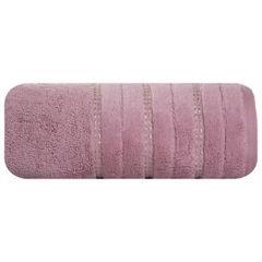 Pudrowy ręcznik kąpielowy z metaliczną nicią - 50x90 cm - 50 X 90 cm - liliowy 2