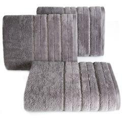 Srebrny ręcznik kąpielowy z metaliczną nicią - 50x90 cm - 50 X 90 cm - srebrny 1