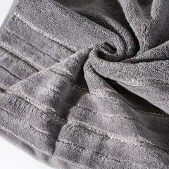 Srebrny ręcznik kąpielowy z metaliczną nicią - 50x90 cm - 50 X 90 cm - srebrny 10