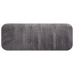 Srebrny ręcznik kąpielowy z metaliczną nicią - 50x90 cm - 50 X 90 cm - srebrny 2