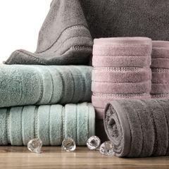 Srebrny ręcznik kąpielowy z metaliczną nicią - 50x90 cm - 50 X 90 cm - srebrny 6