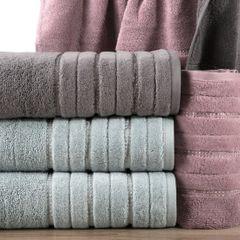 Srebrny ręcznik kąpielowy z metaliczną nicią - 50x90 cm - 50 X 90 cm - srebrny 8