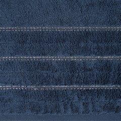 Granatowy ręcznik kąpielowy z metaliczną nicią - 50x90 cm - 50 X 90 cm - granatowy 9