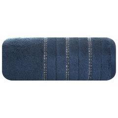 Granatowy ręcznik kąpielowy z metaliczną nicią - 50x90 cm - 50 X 90 cm - granatowy 2