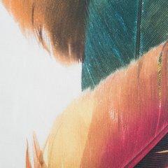 Komplet pościeli bawełnianej 160 x 200, 2 szt. 70 x 80 pióra boho hiszpańska bawełna  - 160 X 200 cm, 2 szt. 70 X 80 cm - wielokolorowy 3