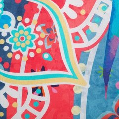 Komplet pościeli  z bawełny hiszpańskiej  160 x 200 cm, 2 szt. 70 x 80 styl boho bawełna hiszpańska - 160x200 - biały / niebieski 1