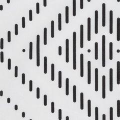Komplet pościeli bawełnianej 160x200 cm, 2 szt. 70x80 cm nadruk geometryczny biało-czarny - 160x200 - biały / czarny 2