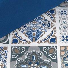 Komplet pościeli satynowej 160 x 200 cm, 2szt. 70 x 80 cm, biała niebieska, azul - 160x200 - srebrny / granatowy 3
