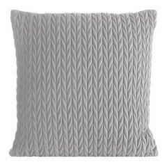 Poszewka na poduszkę 45 x 45 cm z oryginalnym motywem plecionki srebrna - 45 X 45 cm - srebrny 1