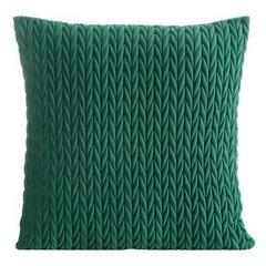 Poszewka na poduszkę 45 x 45 cm z oryginalnym motywem plecionki zielona  - 45 X 45 cm - zielony 1
