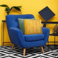 Żółta welwetowa poszewka z efektem 3D 45x45 cm - 40 X 40 cm - żółty 3