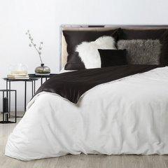 Komplet pościeli z makosatyny bawełnianej 180 x 200 cm, 2szt. 70 x 80 cm, biało czarna  - 180x200 - biały / czarny 2