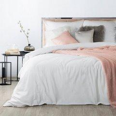 Komplet pościeli z makosatyny bawełnianej 160 x 200 cm, 2szt. 70 x 80 cm, biała - 160x200 - biały 1
