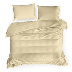 Komplet pościeli z makosatyny bawełnianej 160 x 200 cm, 2szt. 70 x 80 cm, beżowy - 160x200 - beżowy 3