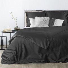 Komplet pościeli z makosatyny bawełnianej 160 x 200 cm, 2szt. 70 x 80 cm, czarny - 160x200 - czarny 2