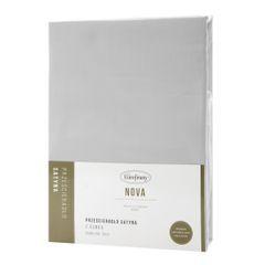 Prześcieradło z makosatyny gładkie 220x200+30cm kolor srebrny - 220 X 200 cm, wys.30 cm - jasnoszary 3