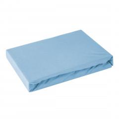Prześcieradło bawełniane gładkie 120x200+25cm 160 kolor niebieski - 120 X 200 cm, wys.25 cm - morelowy 3