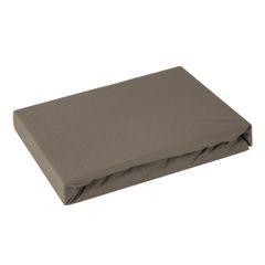 Prześcieradło bawełniane gładkie 180x200+25cm 160 kolor brązowy - 180 X 200 cm, wys.25 cm - brązowy 1