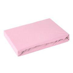 Prześcieradło bawełniane gładkie 120x200+25cm 160 kolor różowy - 120 X 200 cm, wys.25 cm - różowy 1