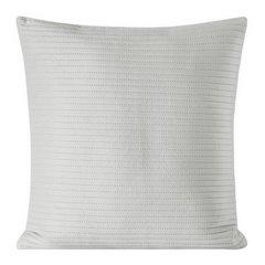 Poszewka dekoracyjna na poduszkę 45 x 45 kolor srebrny - 45 X 45 cm - popielaty 1