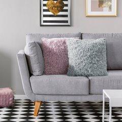 Poszewka dekoracyjna na poduszkę 45 x 45 kolor srebrny - 45 X 45 cm - srebrny 6