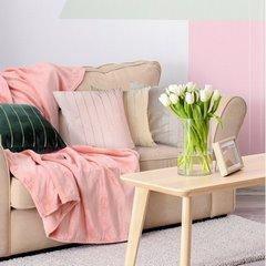 Poszewka dekoracyjna na poduszkę 45 x 45 kolor j.różowy - 45 X 45 cm - j.różowy 3