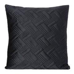 Poszewka dekoracyjna na poduszkę 45 x 45 kolor czarny - 45 X 45 cm - czarny 1