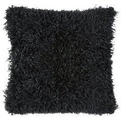 Poszewka dekoracyjna na poduszkę 45 x 45 kolor czarny - 45 X 45 cm - czarny 4